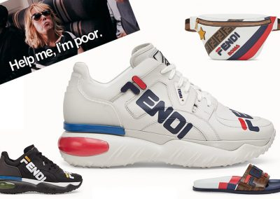Fendi x FILA: No las puedo comprar 💸, pero están bonitas