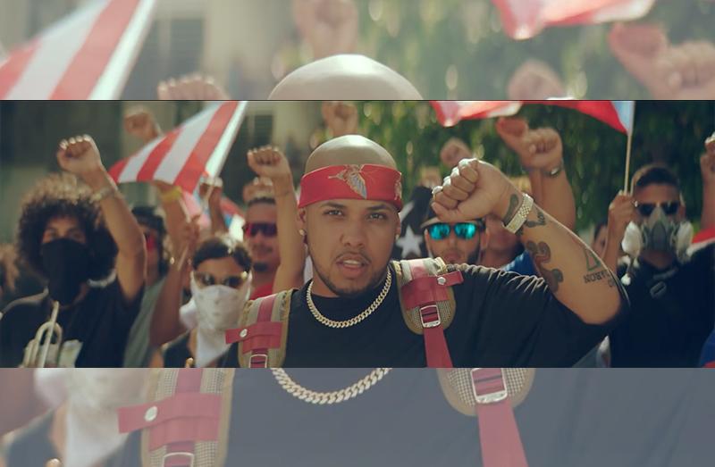 Rafa Pabón celebra la lucha boricua en el video 'Mano Arriba'
